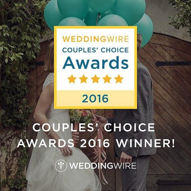 WeddingWire Couples' Choice Award for 2016!